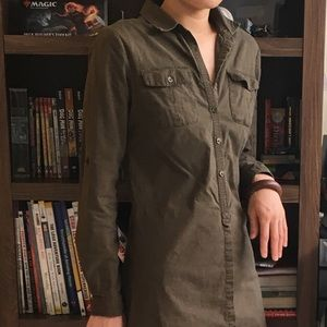 Olive shirt dress from target. Worn <5x